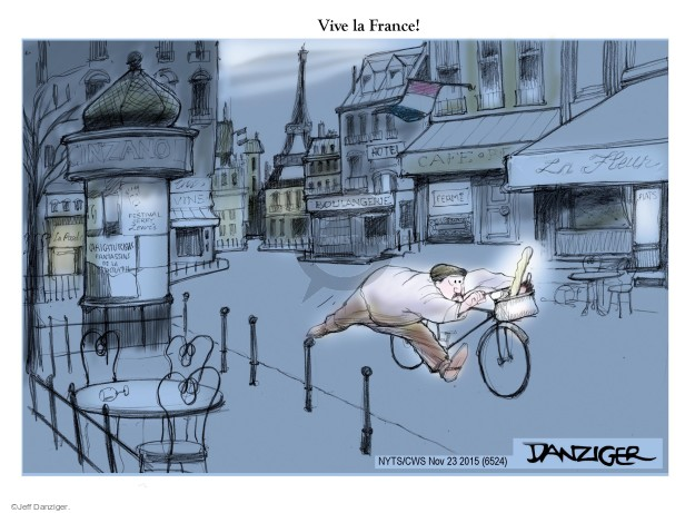 Jeff Danziger  Jeff Danziger's Editorial Cartoons 2015-11-23 terror attack