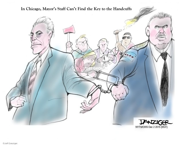 Cartoonist Jeff Danziger  Jeff Danziger's Editorial Cartoons 2015-12-02 police