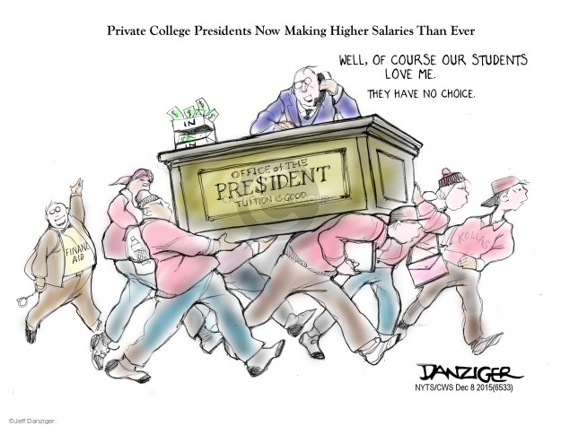 Cartoonist Jeff Danziger  Jeff Danziger's Editorial Cartoons 2015-12-08 college education