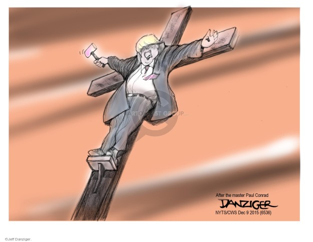 Cartoonist Jeff Danziger  Jeff Danziger's Editorial Cartoons 2015-12-09 cross