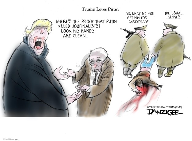 Cartoonist Jeff Danziger  Jeff Danziger's Editorial Cartoons 2015-12-20 Vladimir Putin
