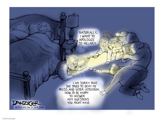 Cartoonist Jeff Danziger  Jeff Danziger's Editorial Cartoons 2015-12-21 attention