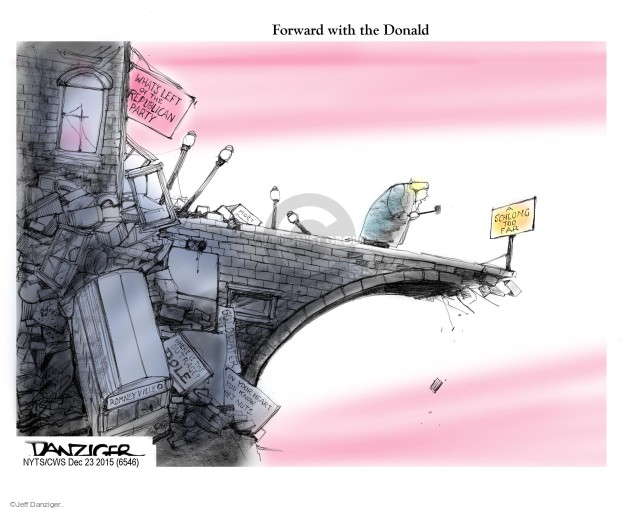 Cartoonist Jeff Danziger  Jeff Danziger's Editorial Cartoons 2015-12-23 2008 election