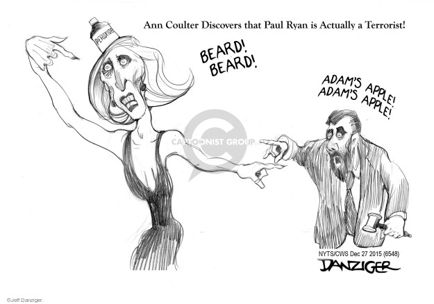 Jeff Danziger  Jeff Danziger's Editorial Cartoons 2015-12-27 Ann Coulter