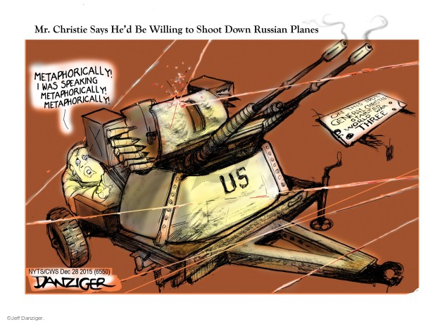 Cartoonist Jeff Danziger  Jeff Danziger's Editorial Cartoons 2015-12-28 Chris