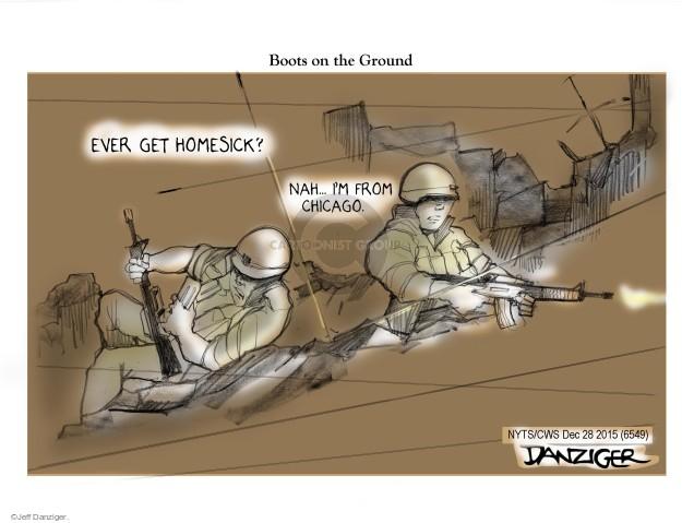 Cartoonist Jeff Danziger  Jeff Danziger's Editorial Cartoons 2015-12-28 gun violence