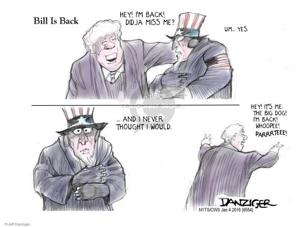Cartoonist Jeff Danziger  Jeff Danziger's Editorial Cartoons 2016-01-04 party