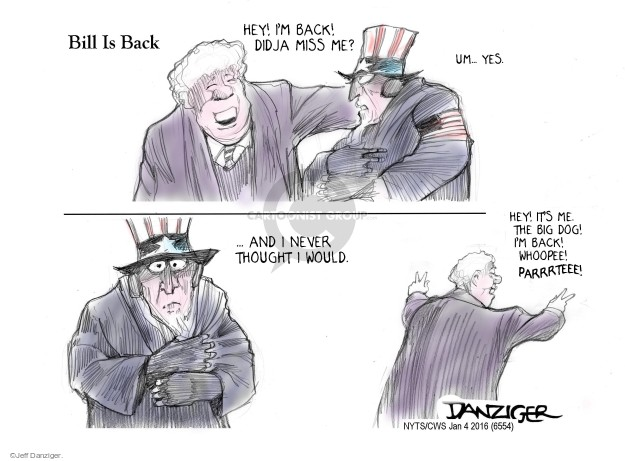 Jeff Danziger  Jeff Danziger's Editorial Cartoons 2016-01-04 Bill Clinton
