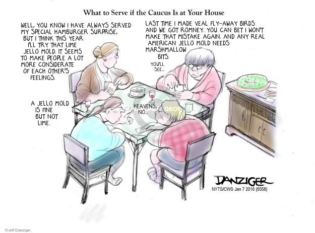 Jeff Danziger  Jeff Danziger's Editorial Cartoons 2016-01-07 2016 election Mitt Romney