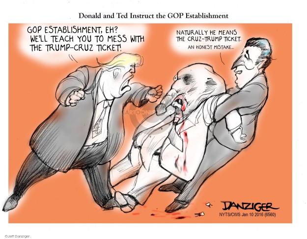 Jeff Danziger  Jeff Danziger's Editorial Cartoons 2016-01-10 Ted Cruz