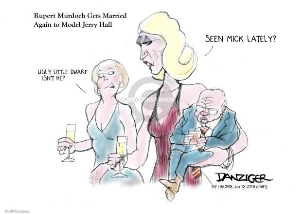 Cartoonist Jeff Danziger  Jeff Danziger's Editorial Cartoons 2016-01-13 Rupert Murdoch