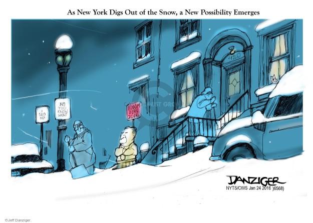 Cartoonist Jeff Danziger  Jeff Danziger's Editorial Cartoons 2016-01-24 storm
