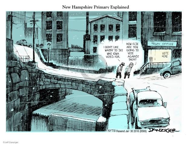 Jeff Danziger  Jeff Danziger's Editorial Cartoons 2016-01-30 caucus