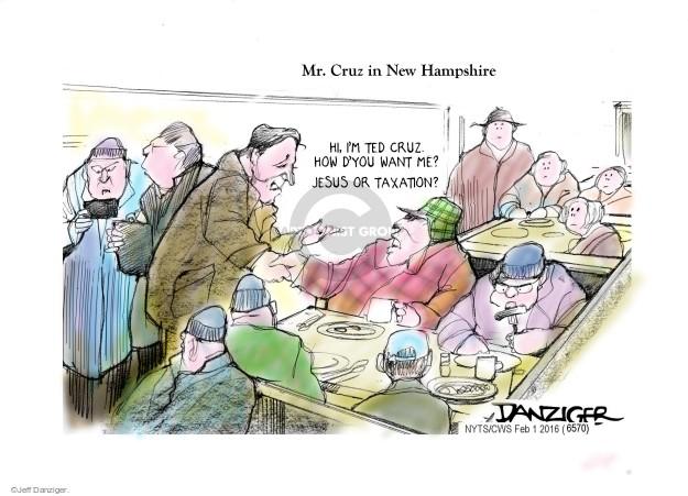 Cartoonist Jeff Danziger  Jeff Danziger's Editorial Cartoons 2016-02-01 campaign