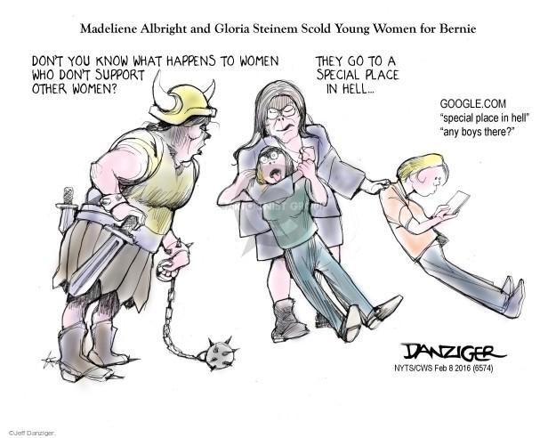 Cartoonist Jeff Danziger  Jeff Danziger's Editorial Cartoons 2016-02-08 female