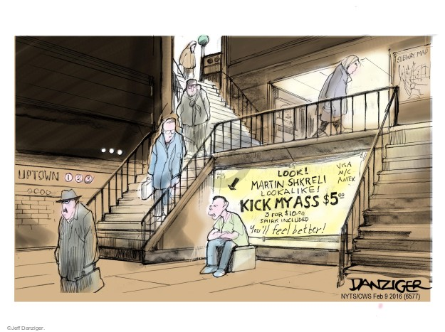 Cartoonist Jeff Danziger  Jeff Danziger's Editorial Cartoons 2016-02-09 expense