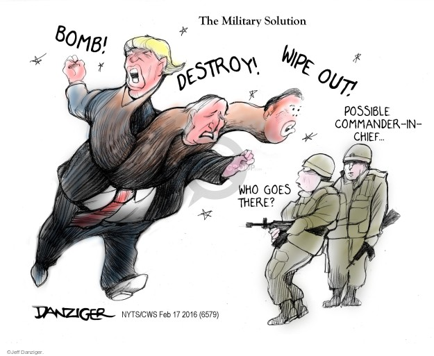 Cartoonist Jeff Danziger  Jeff Danziger's Editorial Cartoons 2016-02-17 bomb