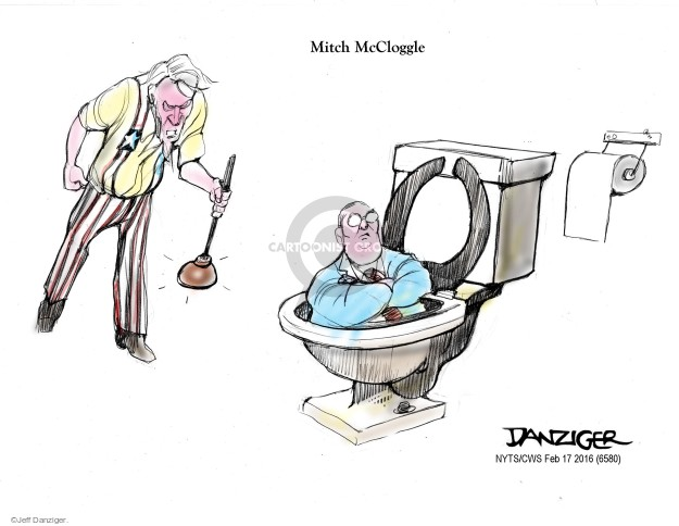 Cartoonist Jeff Danziger  Jeff Danziger's Editorial Cartoons 2016-02-17 obstruction