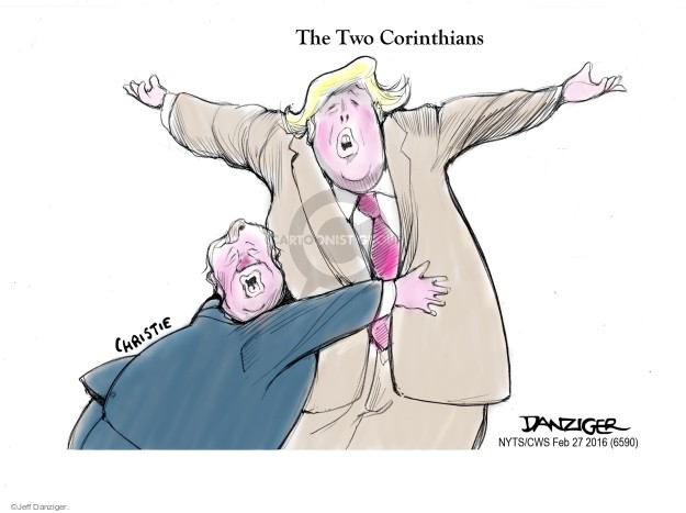 Cartoonist Jeff Danziger  Jeff Danziger's Editorial Cartoons 2016-02-27 Chris Christie