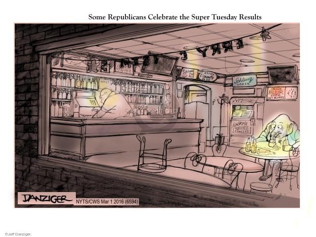 Cartoonist Jeff Danziger  Jeff Danziger's Editorial Cartoons 2016-03-01 drink