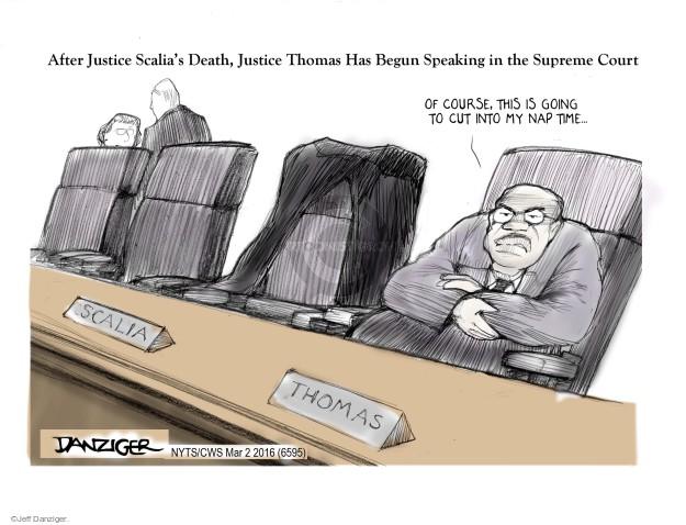 Jeff Danziger  Jeff Danziger's Editorial Cartoons 2016-03-02 supreme court judge