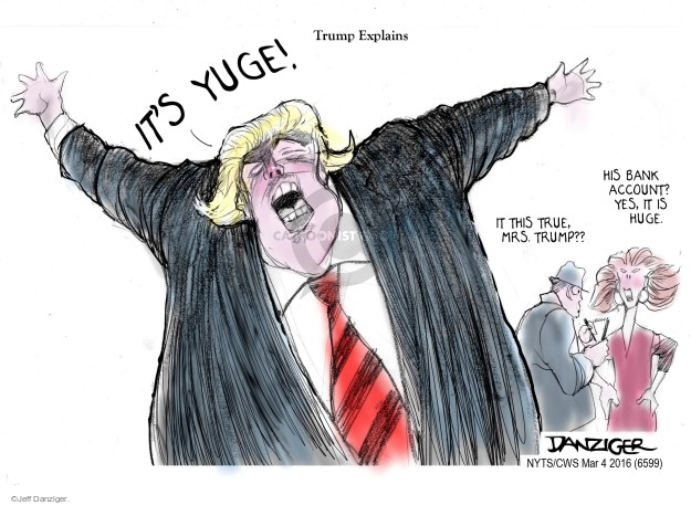 Cartoonist Jeff Danziger  Jeff Danziger's Editorial Cartoons 2016-03-04 explain
