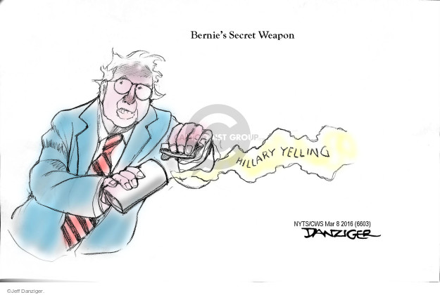 Jeff Danziger  Jeff Danziger's Editorial Cartoons 2016-03-08 Bernie Sanders