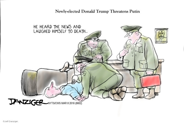 Cartoonist Jeff Danziger  Jeff Danziger's Editorial Cartoons 2016-03-08 Vladimir Putin