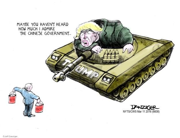 Jeff Danziger  Jeff Danziger's Editorial Cartoons 2016-03-11 admiration