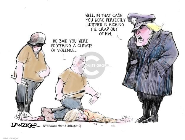 Jeff Danziger  Jeff Danziger's Editorial Cartoons 2016-03-13 bigotry