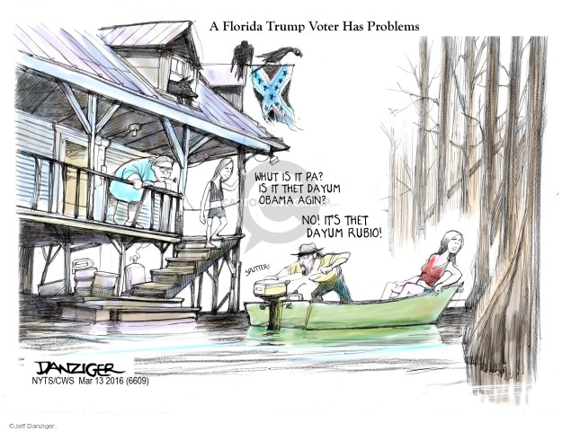 Cartoonist Jeff Danziger  Jeff Danziger's Editorial Cartoons 2016-03-13 no problem