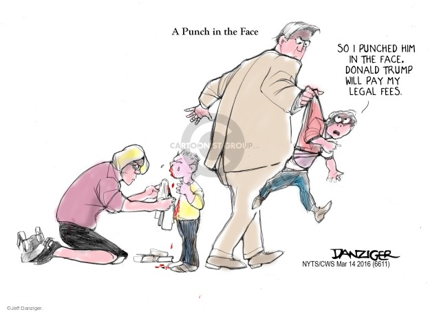 Cartoonist Jeff Danziger  Jeff Danziger's Editorial Cartoons 2016-03-14 fight