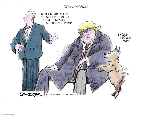 Jeff Danziger  Jeff Danziger's Editorial Cartoons 2016-03-15 acceptance