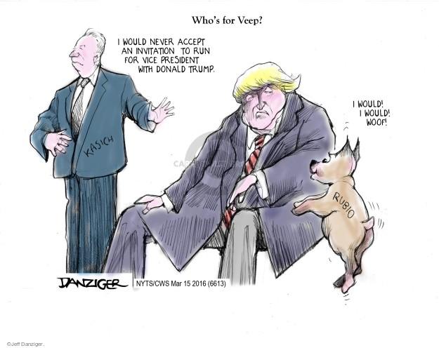 Jeff Danziger  Jeff Danziger's Editorial Cartoons 2016-03-15 2016 election Marco Rubio