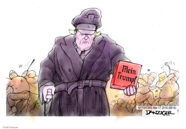 Jeff Danziger  Jeff Danziger's Editorial Cartoons 2016-03-17 protester