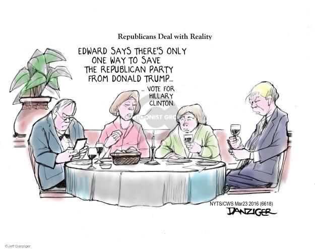 Cartoonist Jeff Danziger  Jeff Danziger's Editorial Cartoons 2016-03-23 candidates republicans