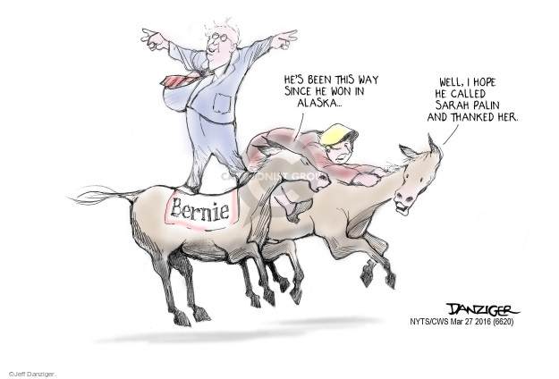 Cartoonist Jeff Danziger  Jeff Danziger's Editorial Cartoons 2016-03-27 race