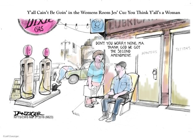 Cartoonist Jeff Danziger  Jeff Danziger's Editorial Cartoons 2016-03-31 discrimination