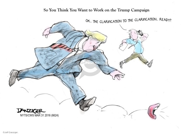 Cartoonist Jeff Danziger  Jeff Danziger's Editorial Cartoons 2016-03-31 change
