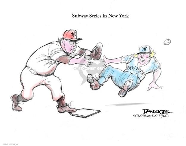 Subway Series in New York. NY. New York.