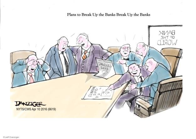 Jeff Danziger  Jeff Danziger's Editorial Cartoons 2016-04-10 interest