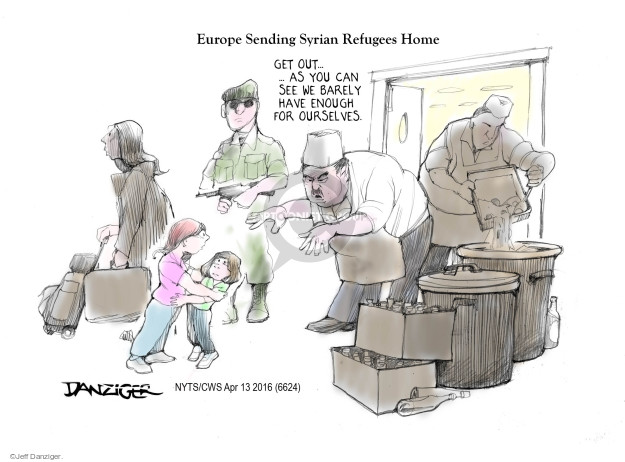 Cartoonist Jeff Danziger  Jeff Danziger's Editorial Cartoons 2016-04-13 poverty