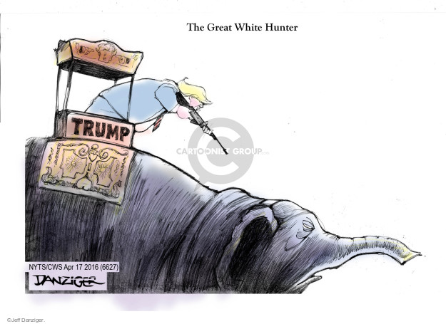 Cartoonist Jeff Danziger  Jeff Danziger's Editorial Cartoons 2016-04-17 white