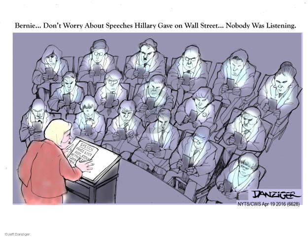 Cartoonist Jeff Danziger  Jeff Danziger's Editorial Cartoons 2016-04-19 fee
