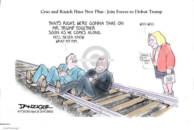 Cartoonist Jeff Danziger  Jeff Danziger's Editorial Cartoons 2016-04-25 2016 Election Ted Cruz