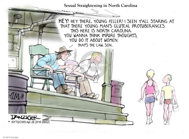 Cartoonist Jeff Danziger  Jeff Danziger's Editorial Cartoons 2016-04-26 gender