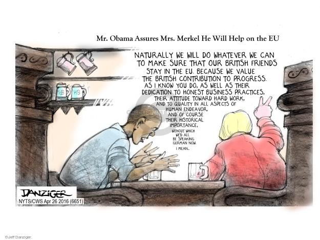 Cartoonist Jeff Danziger  Jeff Danziger's Editorial Cartoons 2016-04-26 German