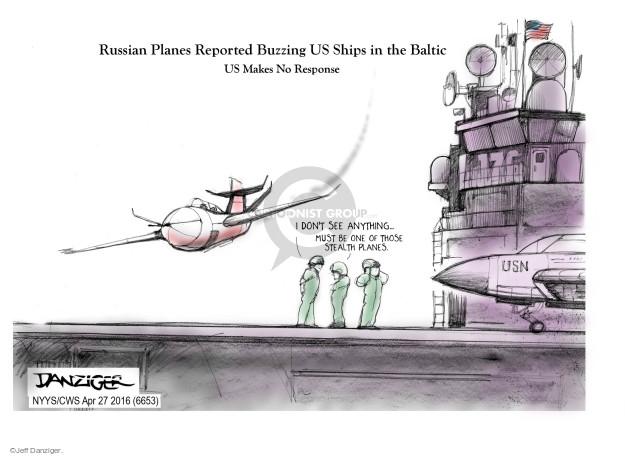 Cartoonist Jeff Danziger  Jeff Danziger's Editorial Cartoons 2016-04-27 ship