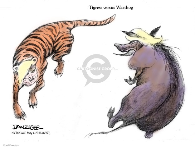 Cartoonist Jeff Danziger  Jeff Danziger's Editorial Cartoons 2016-05-04 versus