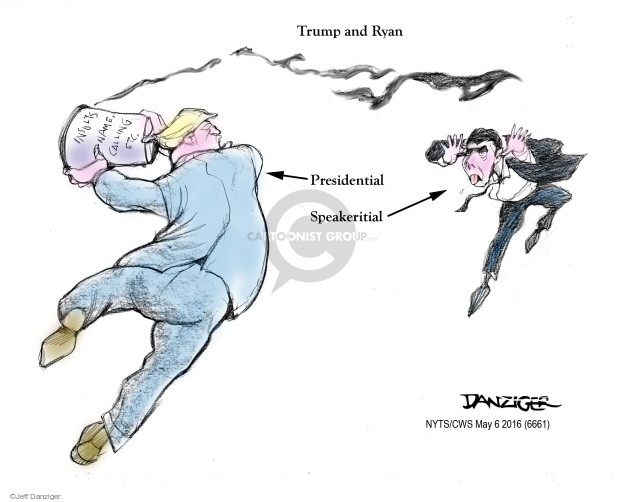 Cartoonist Jeff Danziger  Jeff Danziger's Editorial Cartoons 2016-05-06 congressman
